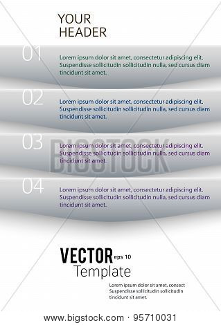 Business Template Presentation Infographics Proportion A4 Sheet