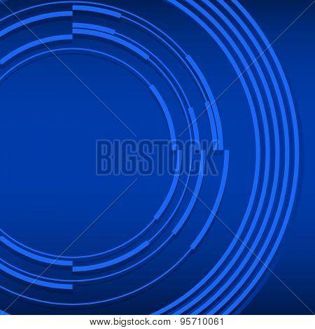 Elegant Blue Glowing Background Effect Following