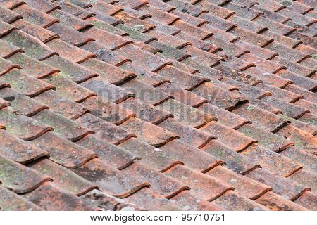 Old Worn Roof Tiles