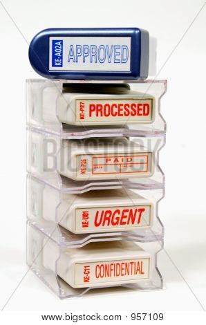 Rack Of Rubber Stamps