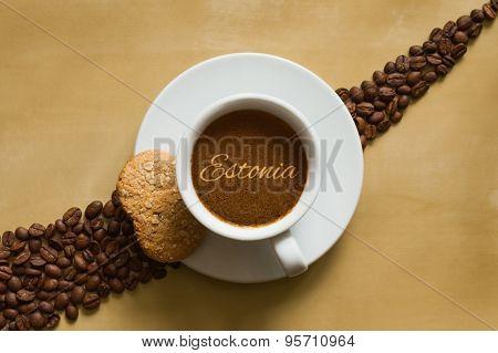 Still Life - Coffee Wtih Text Estonia
