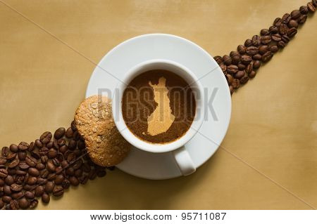 Still Life - Coffee With Map Of Finland