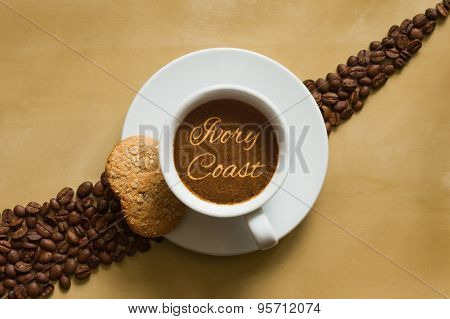 Still Life - Coffee Wtih Text Ivory Coast
