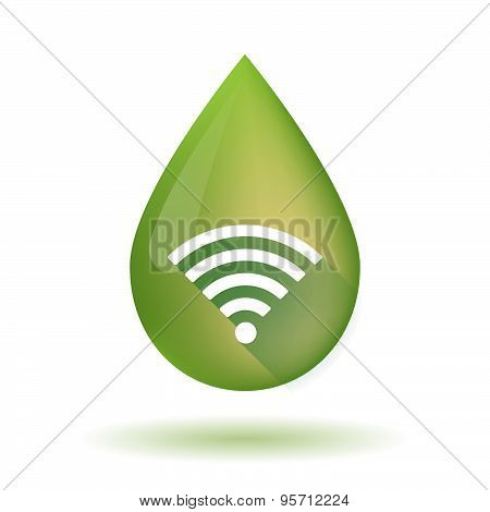 Olive Oil Drop Icon With A Radio Signal Sign