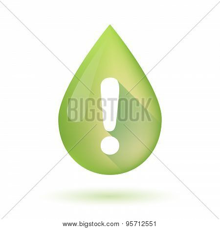 Olive Oil Drop Icon With An Admiration Sign