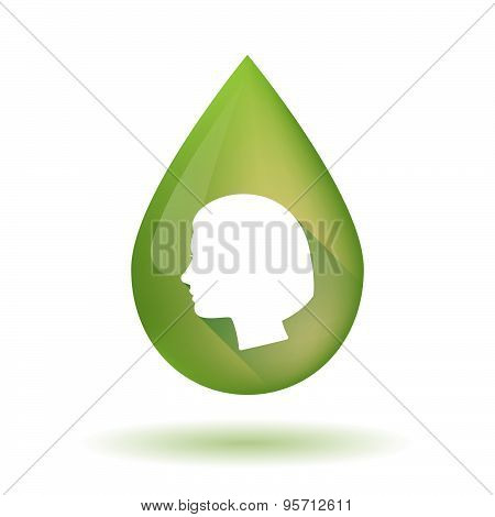 Olive Oil Drop Icon With A Question Sign