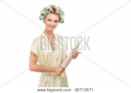 Attractive young woman is preparing to cook