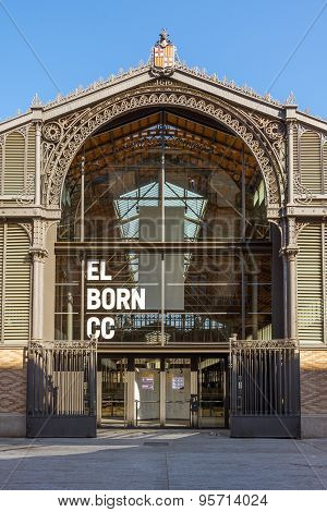 Portal of the Mercat del Born in Barcelona