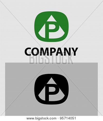 Letter P emblem symbol. Creative corporate concept.
