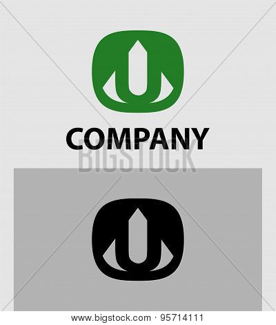 Letter U Abstract Logo Symbol