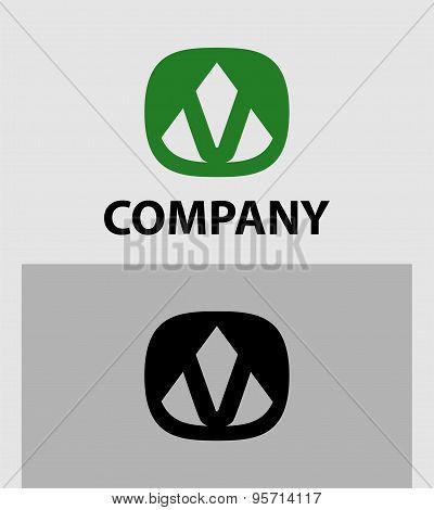 Letter V Abstract Logo Symbol