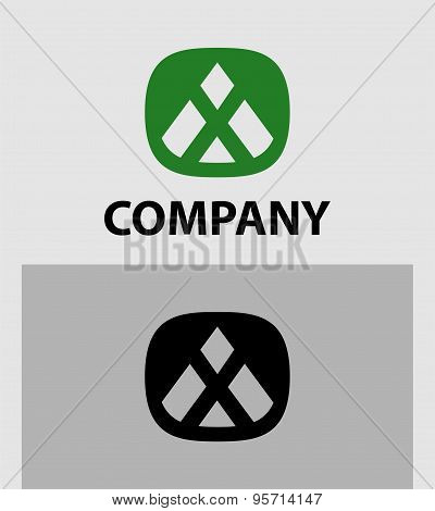 X logo set. Letter X Abstract Logo Symbol