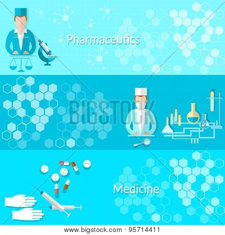 Medicine And Pharmaceuticals: Pills, Doctors, Hospitals, Medicines, Laboratory,syringes