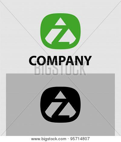Z logo set. Letter Z emblem symbol. Creative corporate concept.