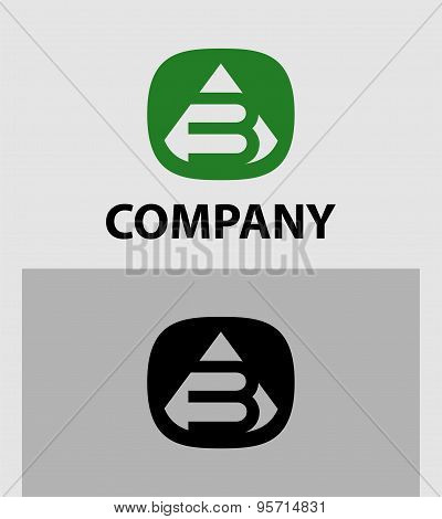 Abstract Number 3 logo Symbol icon set