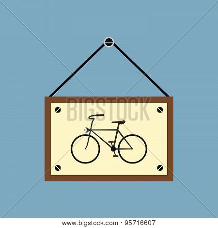 Bicycle Hanging Sign Board
