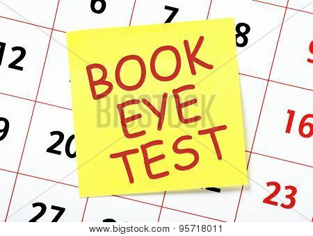 Book Eye Test