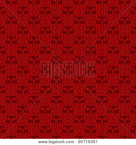 Seamless Vintage Chinese window tracery line pattern background.