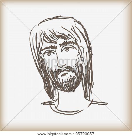 The Man's Head With A Beard.