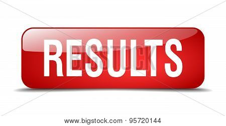 Results Red Square 3D Realistic Isolated Web Button
