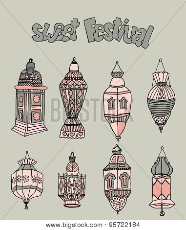 doodles of mosques