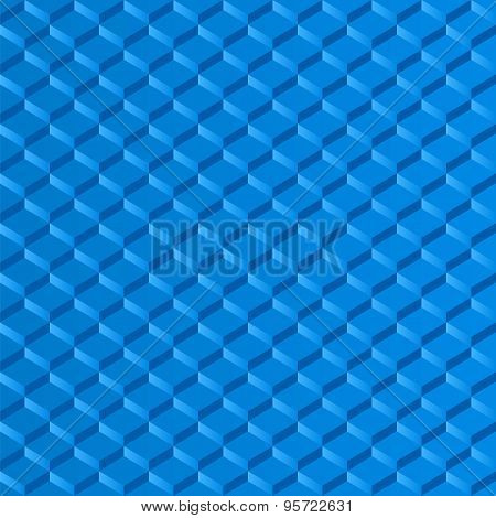 Mosaic Squares Blue Background Effect Step