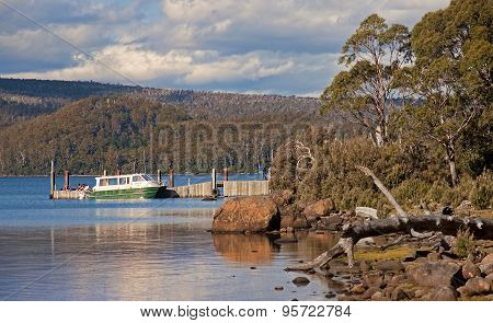 Lake St. Clair, Australia  - January 10, 2015: Cruiser Floating