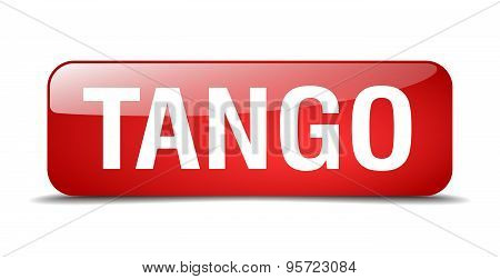 Tango Red Square 3D Realistic Isolated Web Button