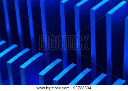 Blue Chipset Heatsink