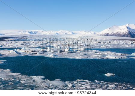Jokulsarlon, Glacial lake,