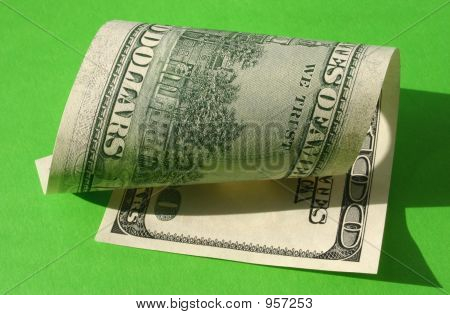 One Hundred Dollar Note  Rolled
