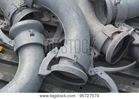 Irrigation Metal Pipes With Attachments