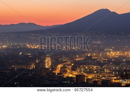 Naples With Mount Vesuvius In The Background