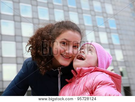 Happy Family Moments - Young Girls Having Fun