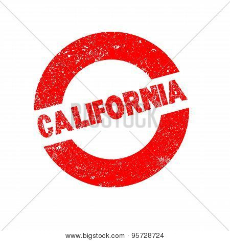 Rubber Ink Stamp California.