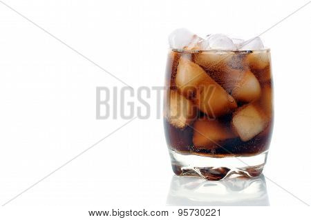 Glas With Cola And Ice