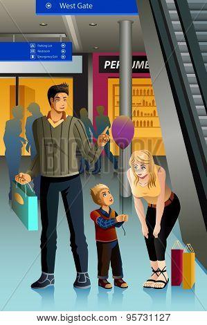 Family Going Shopping