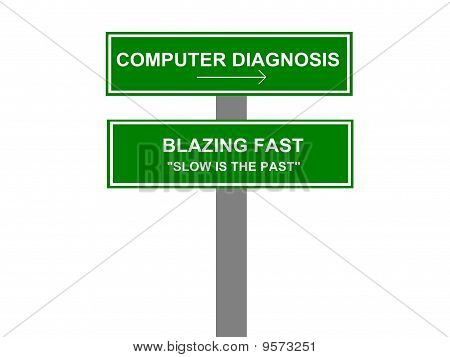 Computer Diagnosis Business Sign