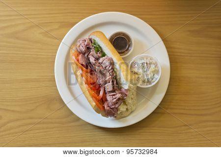 Roast Beef Sub Sandwich