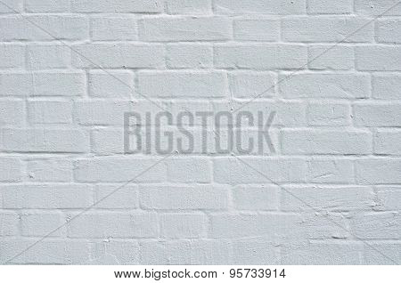 Brick Wall With White Whitewashing Close Up