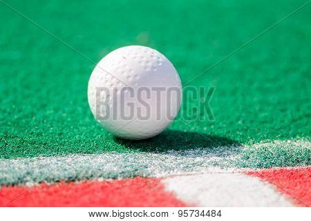 Field Hockey Ball Ready For A Corner