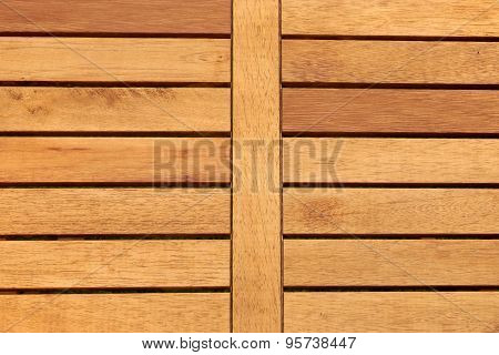Outdoor Hardwood Tabletop Close-up Background