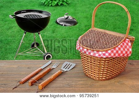 Weekend Summer Outdoor  Bbq Party Ot Picnic Scene