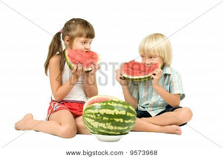 Children With Watermelon