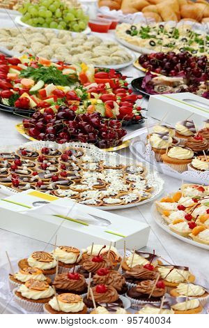 Catering Services Food On Outdoor Party Table