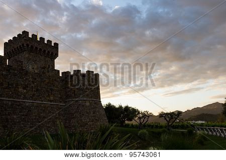 Wine Castle At Sunset