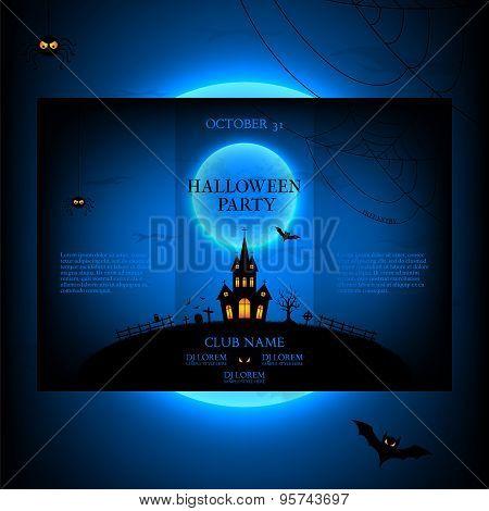 Vector Design Of The Brochure For Halloween