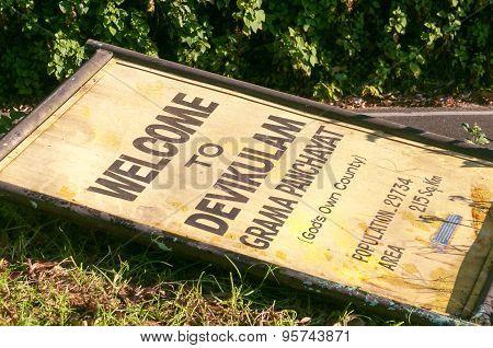 Pointer Of Devikulam Station On The Ground