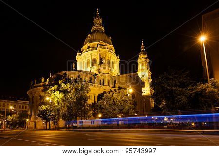 Night View Of Saint Stephen's Basilica