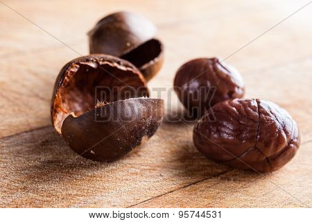 Chestnuts out of shells